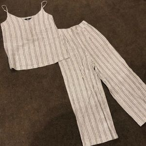 Sportsgirl cotton striped top and pants